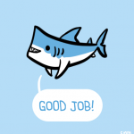 drawing-of-a-shark-saying-good-job-in-front-of-a-pastel-blue-background-3
